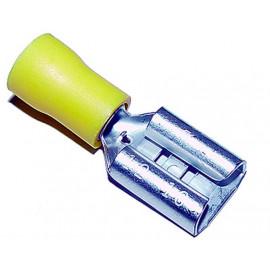 Flachsteckhülse isoliert 9.5mm