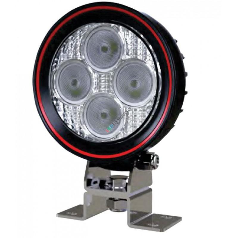 led arbeitsscheinwerfer rund flach 12 watt weldex. Black Bedroom Furniture Sets. Home Design Ideas
