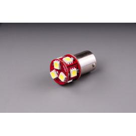 LED Birne BA15S 6V weiss
