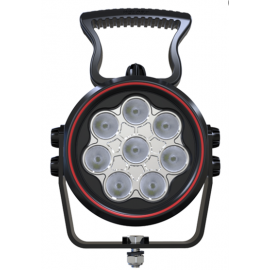 LED Arbeitsscheinwerfer rund 60W Weldex, mit Schalter am Gehäuse