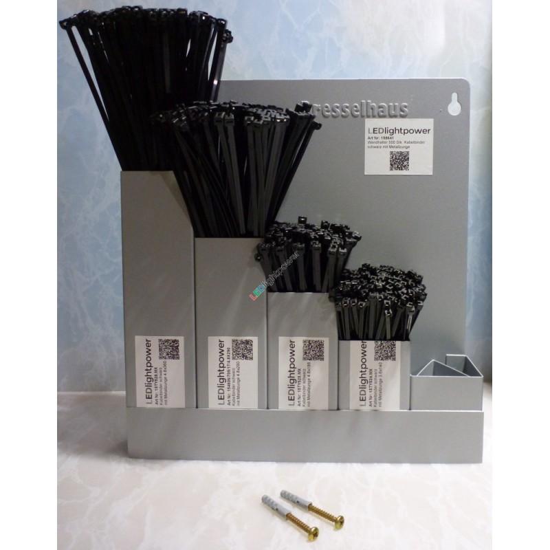 wandhalter 500 stk kabelbinder mit metallzunge. Black Bedroom Furniture Sets. Home Design Ideas