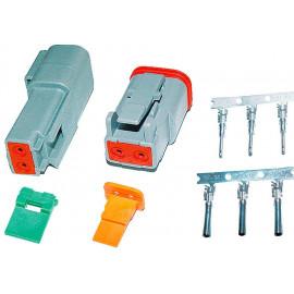 Steckersatz Deutsch 2-polig IP67 16A