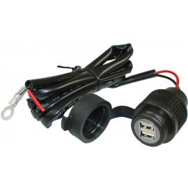 Heavy Duty USB Doppel-Ladedose 12/24V mit Kabel