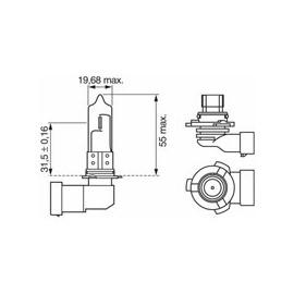 LED Ersatz-Leuchtmittel 9005 (HB3), 10-32V