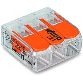 Spezialverbinder WAGO Compact Klemme 3-polig, 0,2-4mm²
