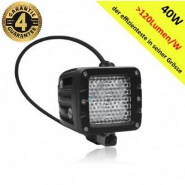 LED Arbeitsscheinwerfer 40W DAKAR Edition, 12-24V, 4 Jahre Garantie