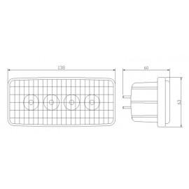 LED Scheinwerfer 20W zu John Deere