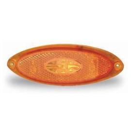 LED Seitenmarkierleuchte gelb JOKON oval 12V, 124x45