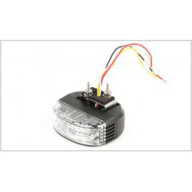 LED Frontblitzer für Rückspiegel Montage, blau 12-24V, ECE R65 (XA1, XB1), ECE R10