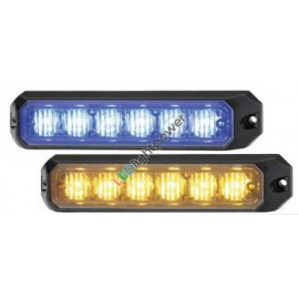 LED Frontblitzer dual color gelb/blau 12-24V, ECE R10