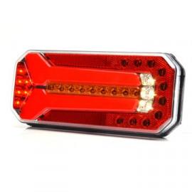 LED Rückleuchte WAS 236x104, 12-24V mit dynamischem Blinker