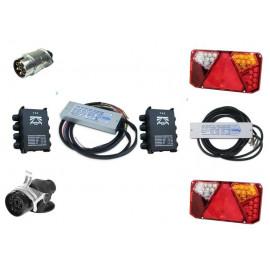 LED Leuchten Kontrollmodul für 12V und 24V, mit Lastsimulaiton 7-Kanal, für Anhänger