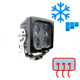 LED Arbeitsscheinwerfer 40W mit Scheibenheizung, 12-24V