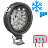 LED Arbeitsscheinwerfer mit Kunststoffgehäuse und Scheibenheizung 12-24V