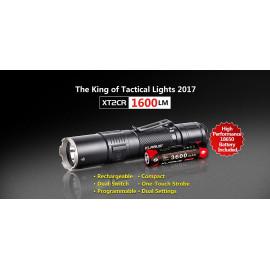 Klarus XT2CR LED Taschenlampe, 1600 Lumen, inkl. Akku 3600mAh, mit USB aufladbar