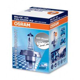 OSRAM Glühbirne P45t (Bilux) 60/55W, Abblend-Fernlicht mit H4 Lampensockel für mehr Licht