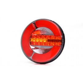 LED Rückleuchte rund 142mm, mit dynamischem Blinker, 12-24V, ISO 13207