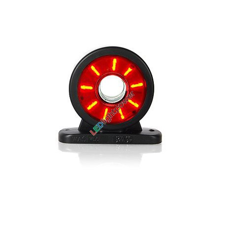 LED Ring Positionsleuchte rot/weiss, 12-24V