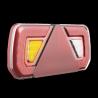 LED Anhängerschlussleuchte mit Dreieckreflektor, 252x133x32, links