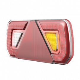 LED Anhängerschlussleuchte mit Dreieckreflektor, 252x133x32, rechts