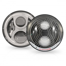"""LED Hauptscheinwerfer 7"""", 8700 Evolution 2, Dual Burn, beheizt mit Scheibenheizung"""