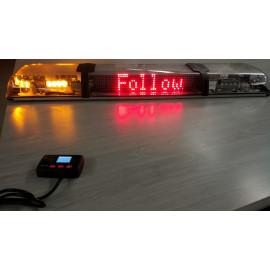 LED Warnbalken gelb mit Klarglas und LED Screen 1190mm