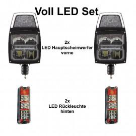 Voll LED Beleuchtung Set für Gabelstapler 12/24V, mit Strassenzulassung