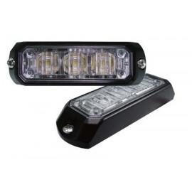LED Frontblitzer gelb, 3 LED, Aufbaumontage, 12-24V