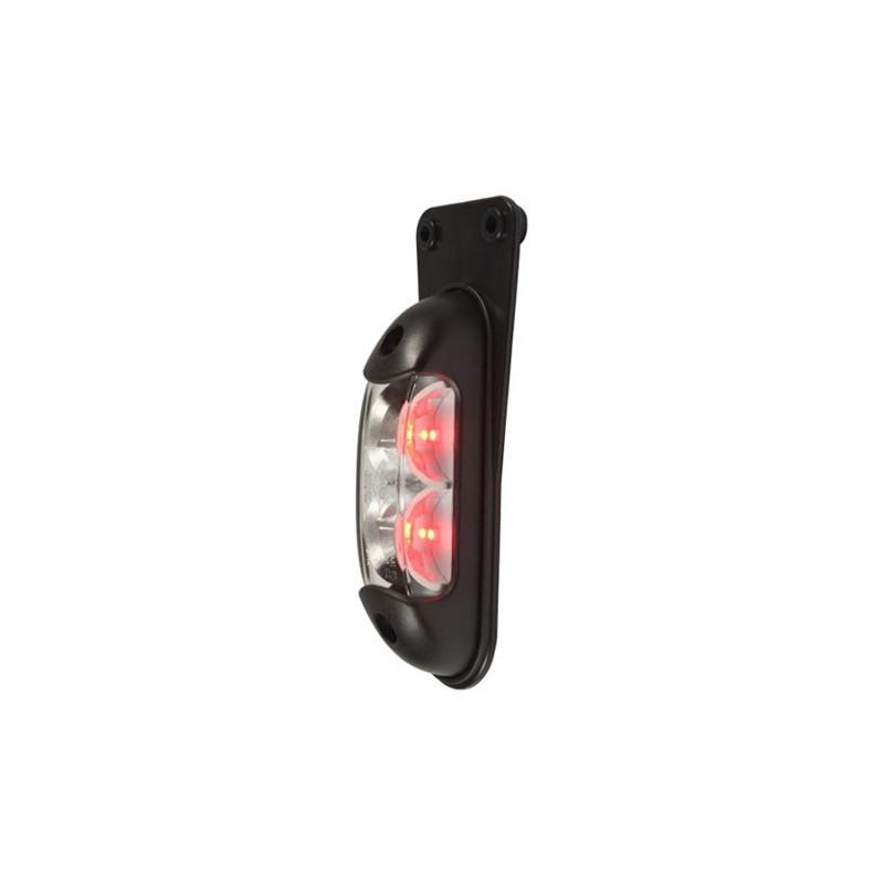 LED Positionsleuchte pendelnd, rot-weiss, HORPOL, 12-24V