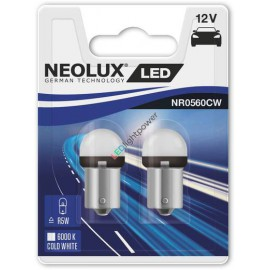 LED Birne BA15s 12V Neolux R5W, weiss, Set (2 Stück), 5W Ersatz