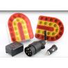 Kabellose Rückleuchten, Wireless LED Schlussleuchten Set magnetisch, mit 7-pol Adapter