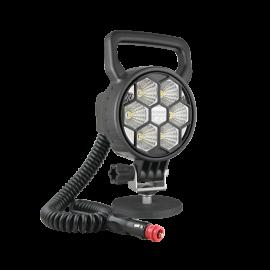 LED Arbeitsscheinwerfer WESEM rund, 2000 Lumen, 12-24V, mit Griff und Schalter