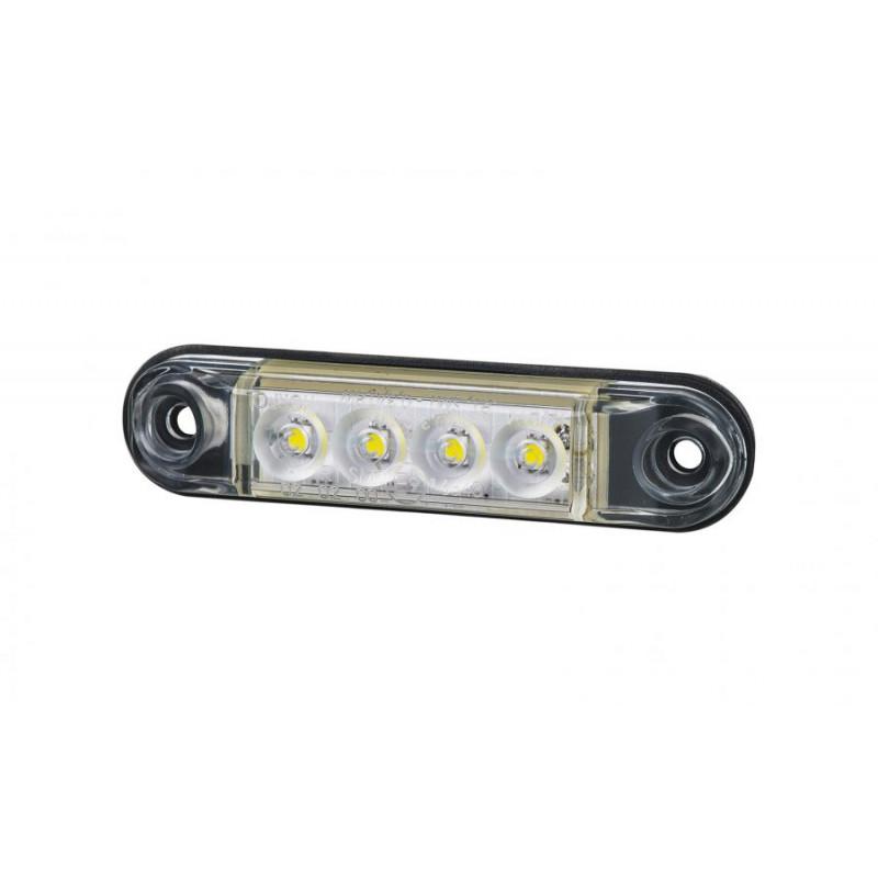 Mini LED Positionsleuchte 4 LED, weiss 12-24V