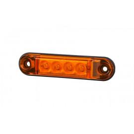 Mini LED Positionsleuchte 4 LED, orange 12-24V