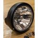 7 Zoll Lampentopf gross, mit integriertem Tragrahmen, einstellbar, Farbe: schwarz-matt