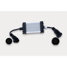 LED Kontrollbox für Anhänger, 12V, 13-pol Stecker und Dose