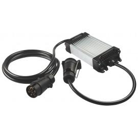 LED Kontrollbox für Anhänger, 12V, 7-pol Stecker und Dose