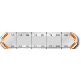 LED Warnbalken orange superflach, selbst konfigurierbar, 4 Jahre Garantie