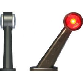 LED Positionsleuchte rot-weiss, schräg, 12-24V
