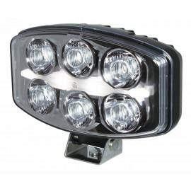 LED Fernscheinwerfer oval mit Standlicht Streifen, 12-24V, E-geprüft