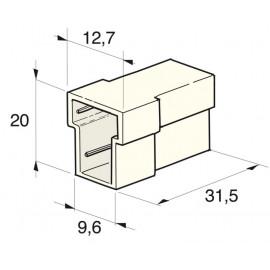 Flachsteckgehäuse 2-polig weibl.