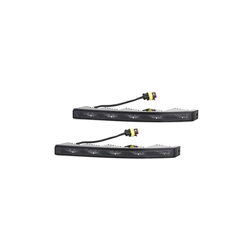 LED Tagfahrleuchten Set Nolden NCC Slim, ML-018, Farbe schwarz