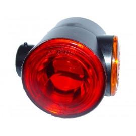 Ersatzglas Superpoint III rot/weiss/orange
