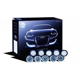 LED Tagfahrlicht 825HP silber, 5x LED rund pro Seite, 12V