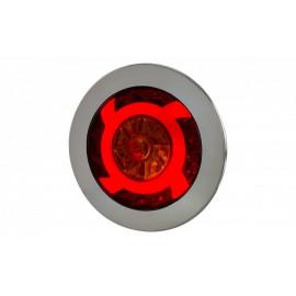 Einbau LED Rückleuchte Turbinenstyle mit Blinker und Stoplicht 12-24V