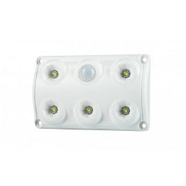 LED Innenleuchte 6 LED, 120x75, 12-24V, mit Bewegungssensor
