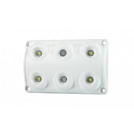 LED Innenleuchte rot-weiss, 5 LED, dimmbar, 120x75, 12-24V, mit Schalter
