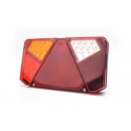 LED Rückleuchte mit Dreieckrückstrahler, 242x134, 12-24V