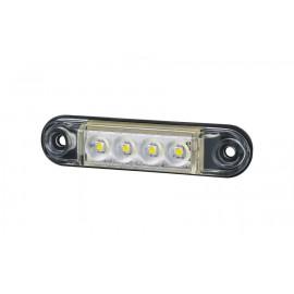 Mini LED Positionsleuchte 4 LED, weiss 12-24V, 1 Meter Anschlusskabel