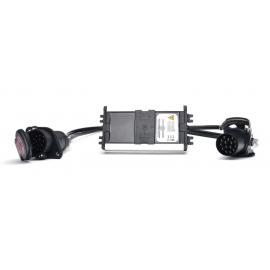 LED Kontrollbox für Anhänger, 24V, 15-pol Stecker und Dose WAS